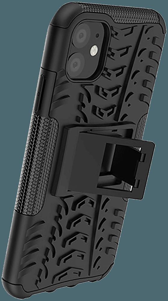 Apple iPhone 11 ütésálló tok kitámasztó fekete