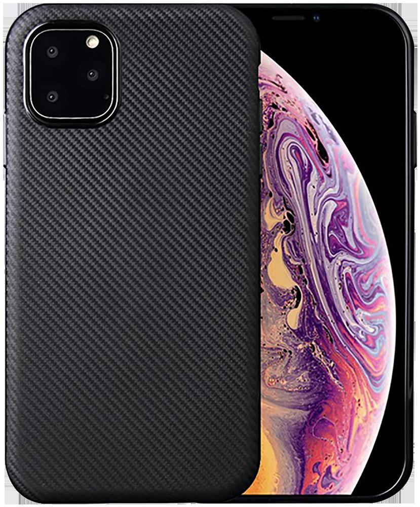 Apple iPhone 11 szilikon tok karbon mintás fekete