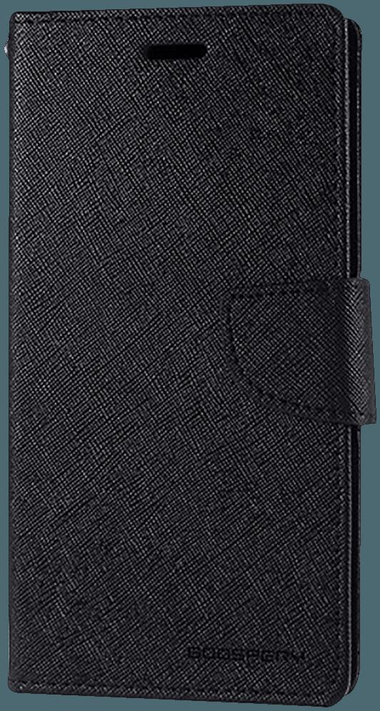 Apple iPhone 11 oldalra nyíló flipes bőrtok gyári MERCURYCASE bankkártya tartó fekete
