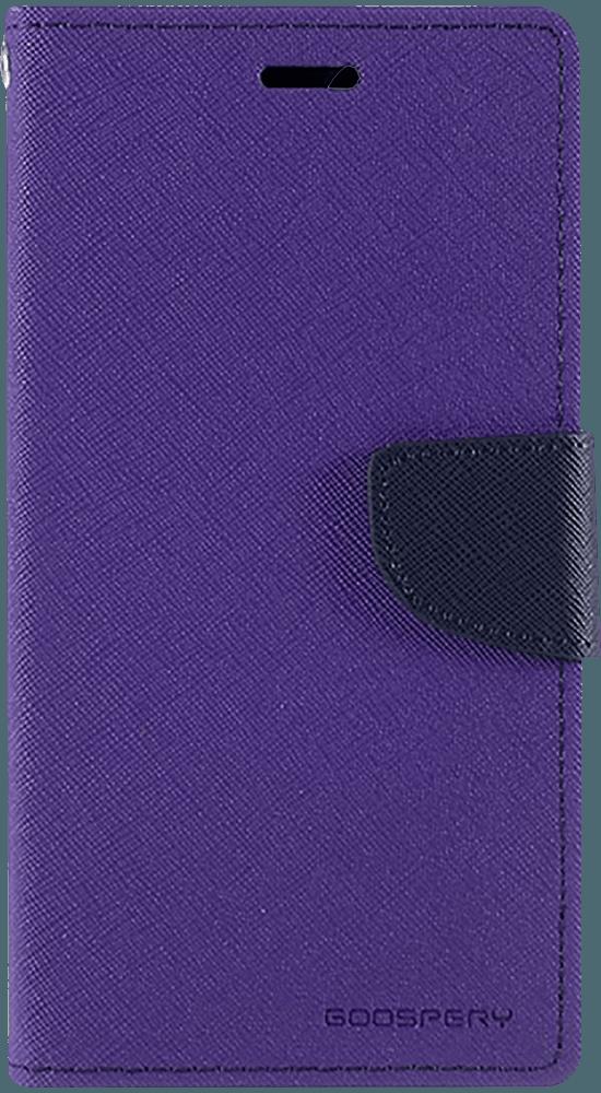 Apple iPhone 11 oldalra nyíló flipes bőrtok gyári MERCURYCASE bankkártya tartó lila