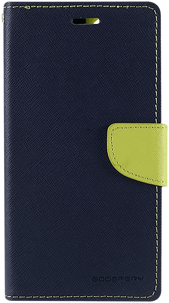 Apple iPhone 11 oldalra nyíló flipes bőrtok gyári MERCURYCASE bankkártya tartó sötétkék