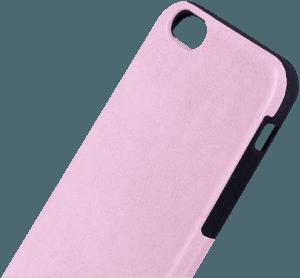 Apple iPhone 6S szilikon tok bőrhatású babarózsaszín