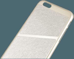 Apple iPhone 6S kemény hátlap mikroszálas minta arany