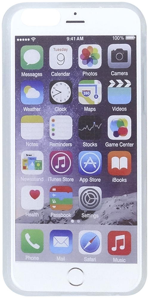 Apple iPhone 6S kemény hátlap iPhone widget minta szilikon keret