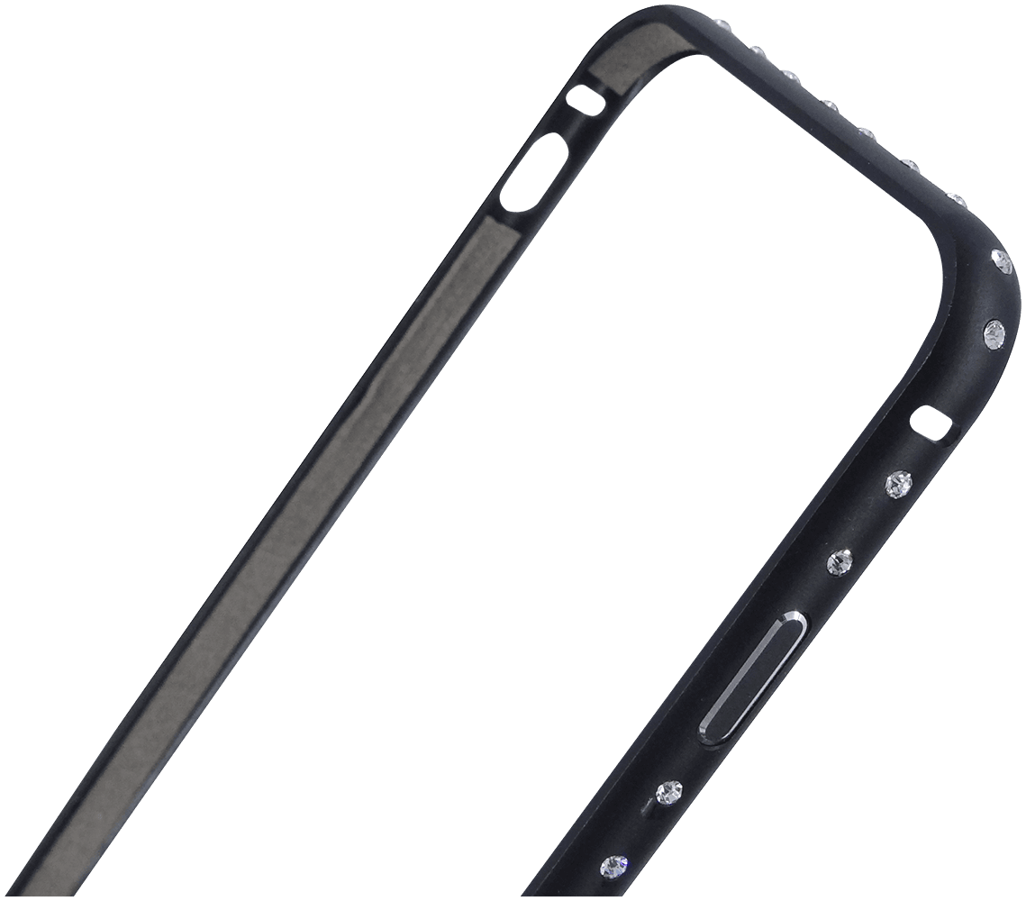 Apple iPhone 6S bumper strasszköves fekete