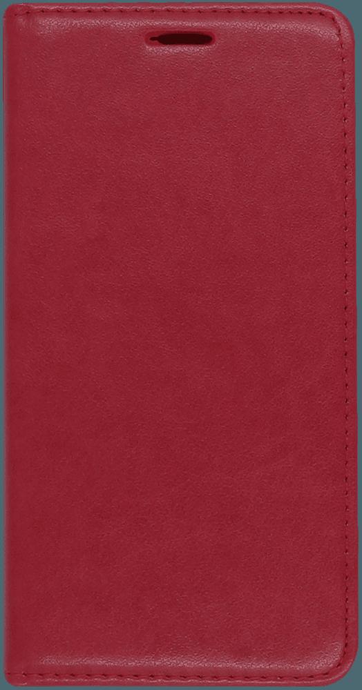 Apple iPhone XR oldalra nyíló mágneses flipes bőrtok asztali tartó funkciós piros