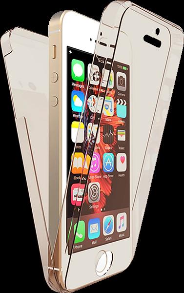 Apple iPhone 5 kemény hátlap 360° védelem füstszínű