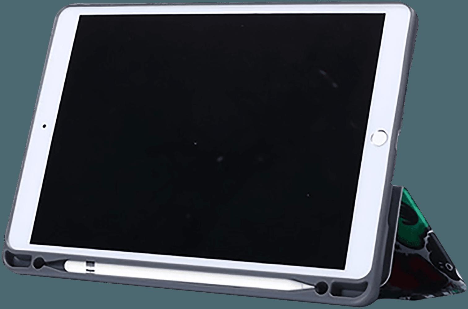 Apple iPad Pro 2017 10.5 oldalra nyíló flipes bőrtok graffiti minta fehér