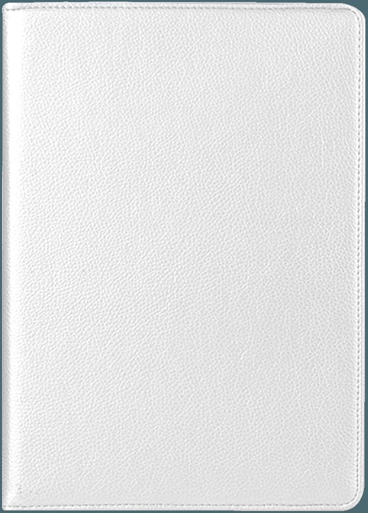 Apple iPad Pro 2017 10.5 oldalra nyíló flipes bőrtok 360° ban forgatható fehér