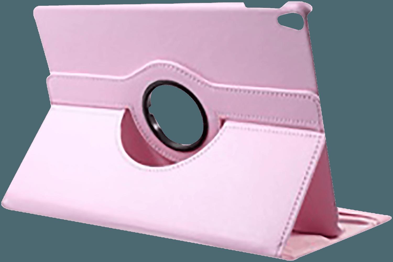 Apple iPad Pro 2017 10.5 oldalra nyíló flipes bőrtok 360° ban forgatható rózsaszín