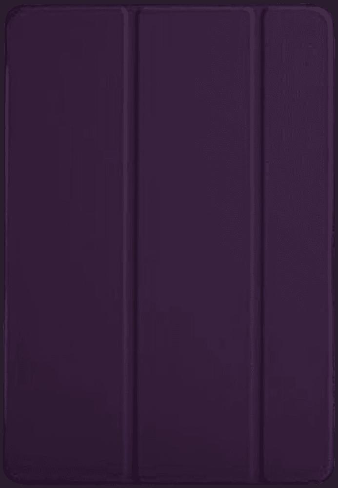 Apple iPad Pro 2017 10.5 oldalra nyíló flipes bőrtok TRIFOLD asztali tartó funkció lila