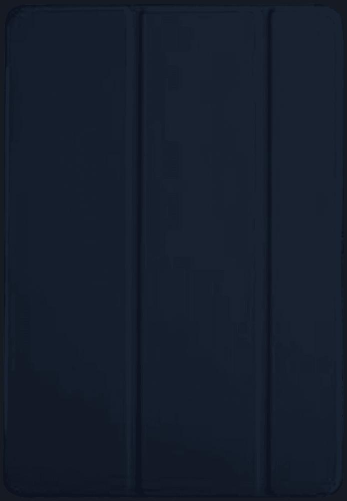 Apple iPad Pro 2017 10.5 oldalra nyíló flipes bőrtok TRIFOLD asztali tartó funkció sötétkék