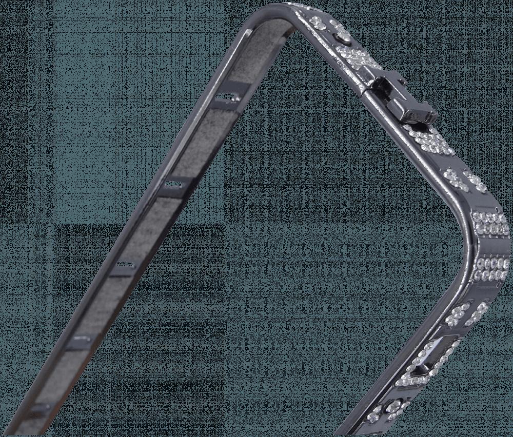 Apple iPhone 5 bumper strasszköves szürke
