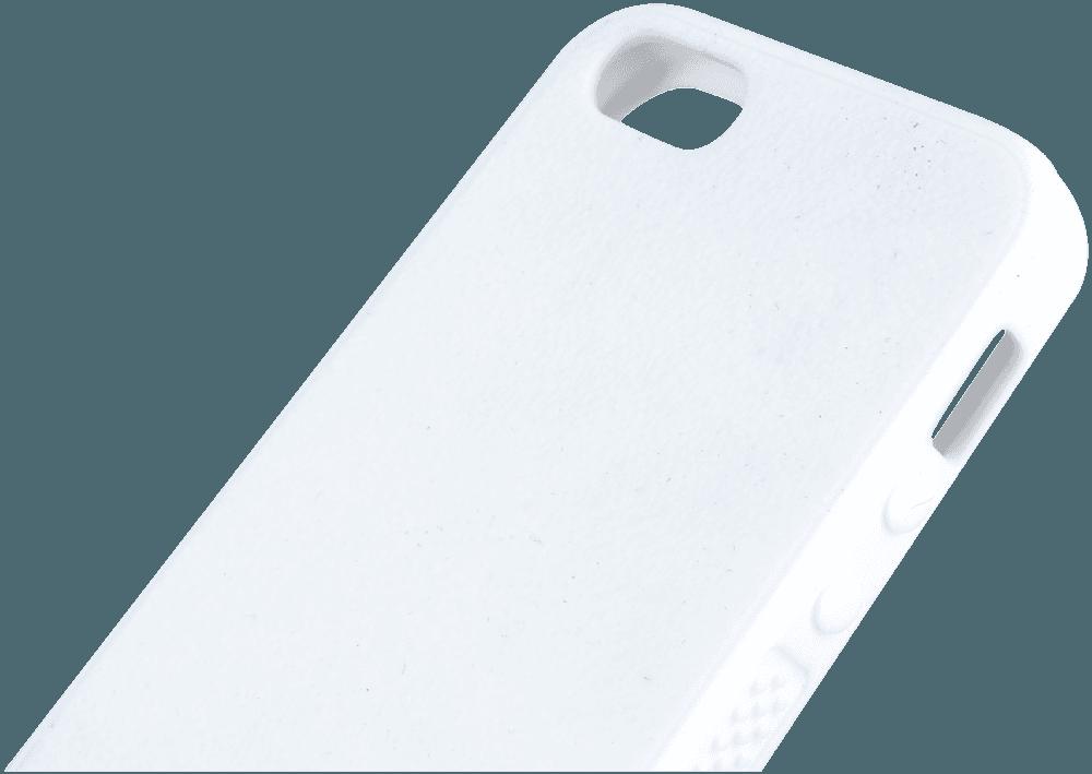 Apple iPhone SE szilikon tok recés oldallal fehér