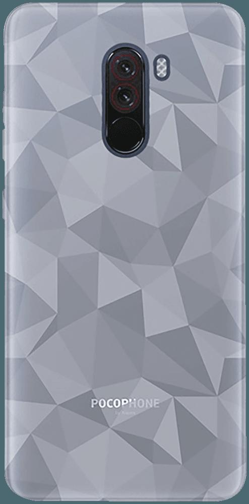 Xiaomi Pocophone F1 szilikon tok 3D gyémántmintás átlátszó