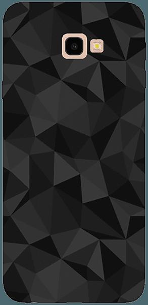 Samsung Galaxy J4 Plus (J415F) szilikon tok 3D gyémántmintás fekete
