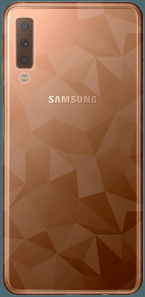Samsung Galaxy A7 2018 (SM-A750F) szilikon tok 3D gyémántmintás füstszínű