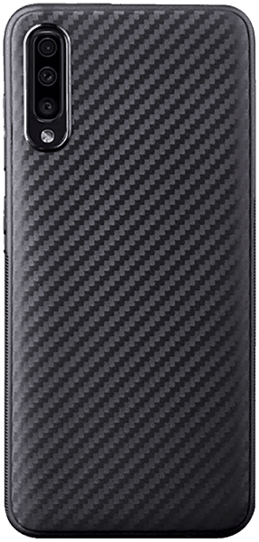 Samsung Galaxy A70s (SM-A707F) szilikon tok karbon mintás fekete