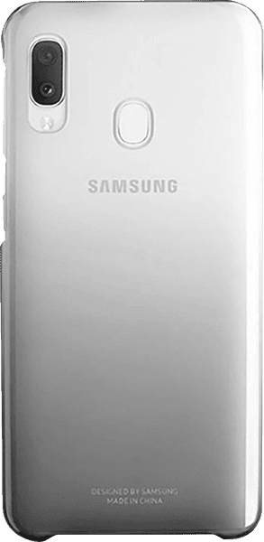 Samsung Galaxy A70s (SM-A707F) kemény hátlap gyári SAMSUNG színátmenetes fekete