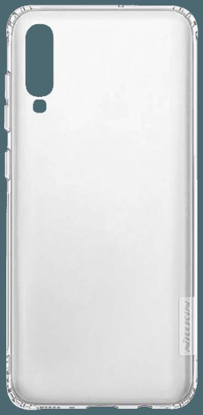 Samsung Galaxy A70s (SM-A707F) szilikon tok gyári NILLKIN légpárnás sarok átlátszó