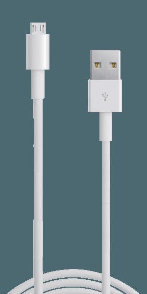 Xiaomi Mi Play Prémium micro USB gyorstöltő adatkábel fehér