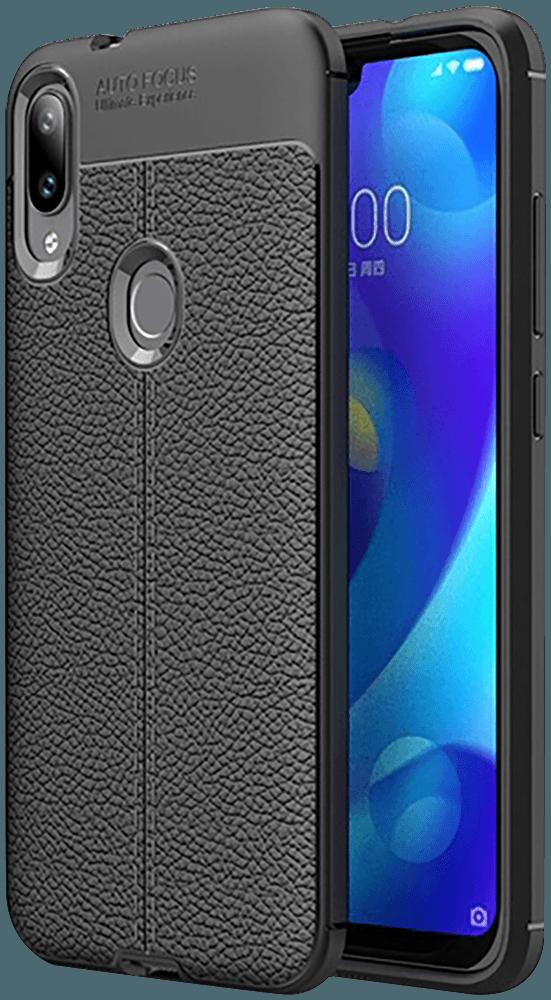 Xiaomi Mi Play szilikon tok varrás mintás fekete
