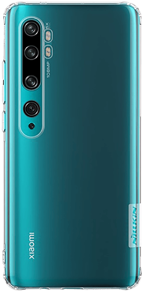 Xiaomi Mi Note 10 Pro szilikon tok gyári NILLKIN légpárnás sarok átlátszó