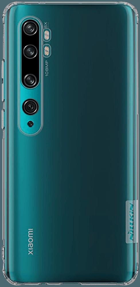 Xiaomi Mi Note 10 Pro szilikon tok gyári NILLKIN légpárnás sarok szürke