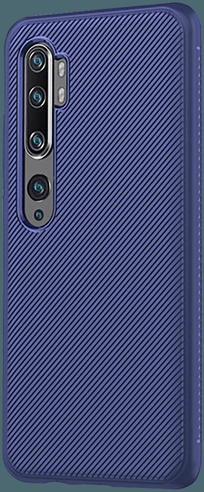 Xiaomi Mi Note 10 Pro szilikon tok csíkos minta kék