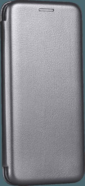Samsung Galaxy J4 Plus (J415F) oldalra nyíló mágneses flipes bőrtok prémium minőség ezüst