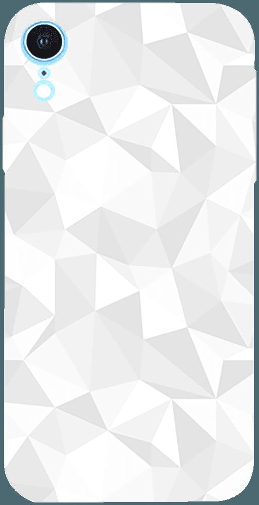 Apple iPhone XR szilikon tok 3D gyémántmintás fehér