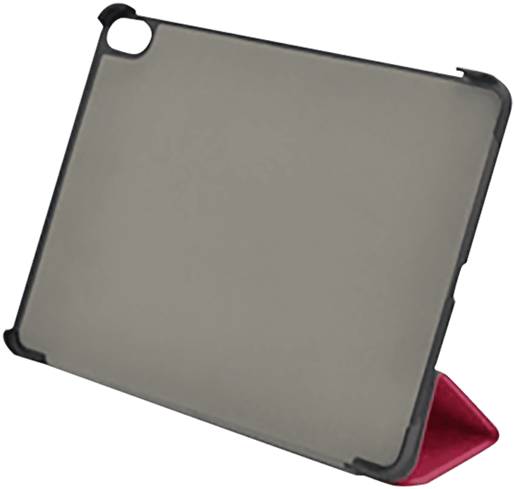 Apple iPad Pro 11 (2018) oldalra nyíló flipes bőrtok TRIFOLD asztali tartó funkció magenta