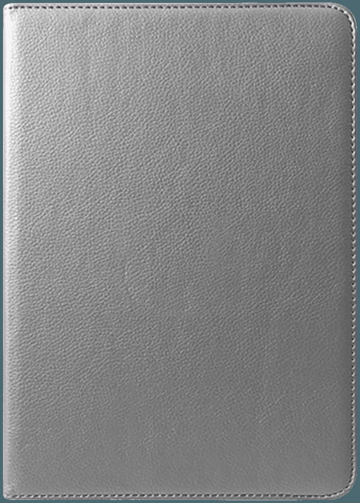 Apple iPad Pro 11 (2018) oldalra nyíló flipes bőrtok 360° ban forgatható ezüst