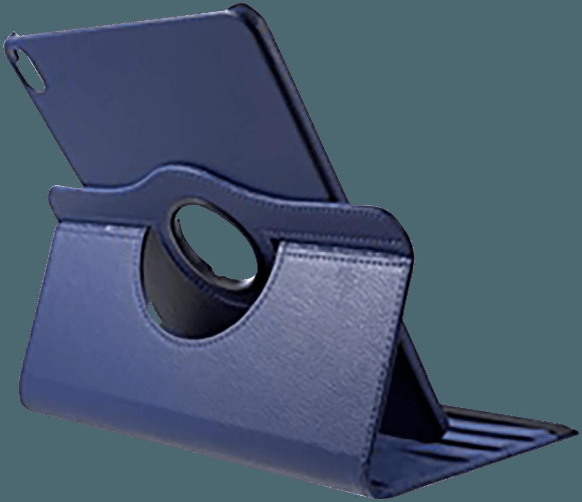 Apple iPad Pro 11 (2018) oldalra nyíló flipes bőrtok 360° ban forgatható sötétkék