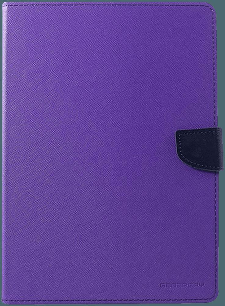 Apple iPad Pro 11 (2018) oldalra nyíló flipes gyári MERCURYCASE bőrtok textil mintás lila