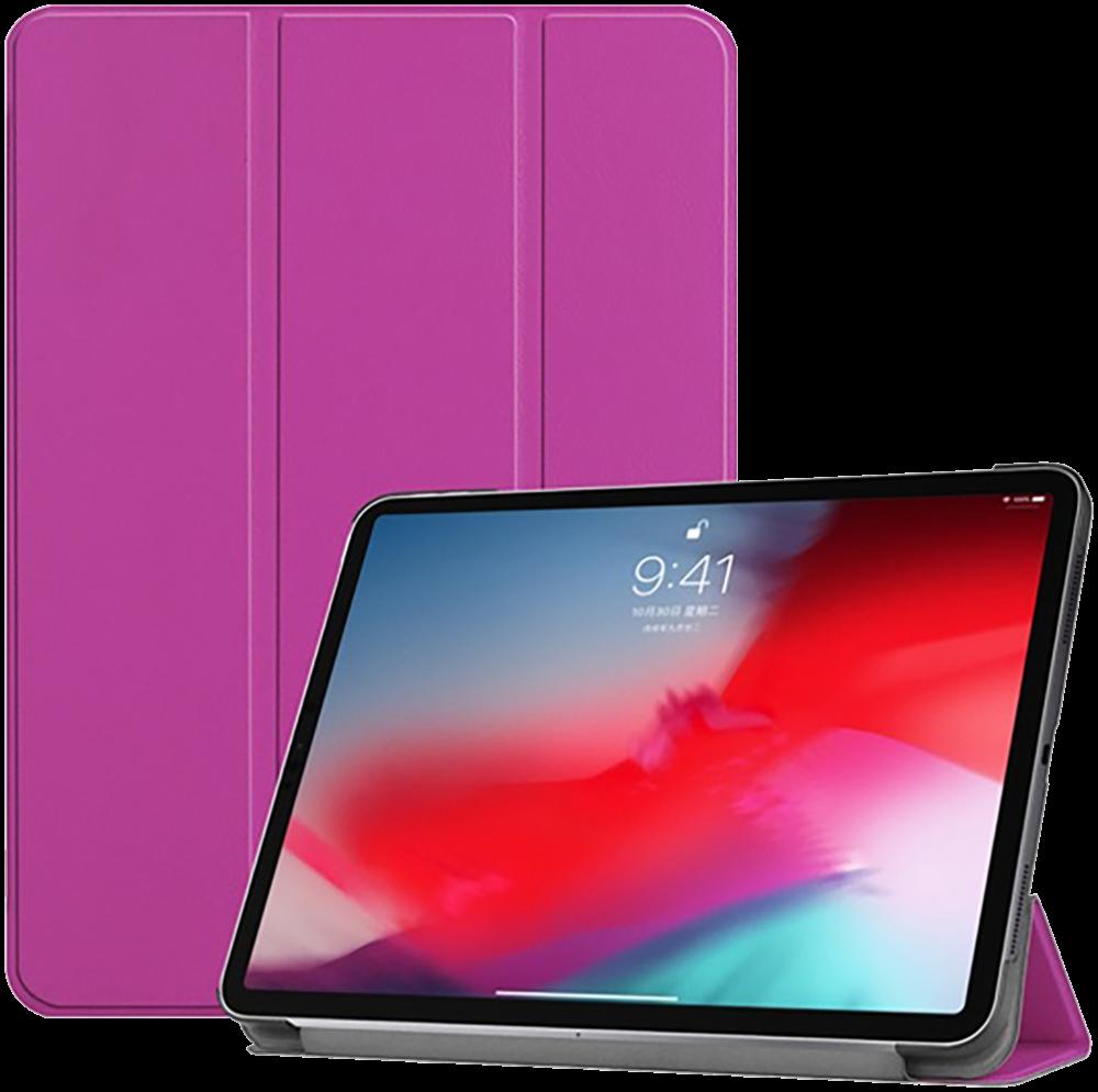 Apple iPad Pro 11 (2018) oldalra nyíló flipes bőrtok TRIFOLD asztali tartó funkció lila