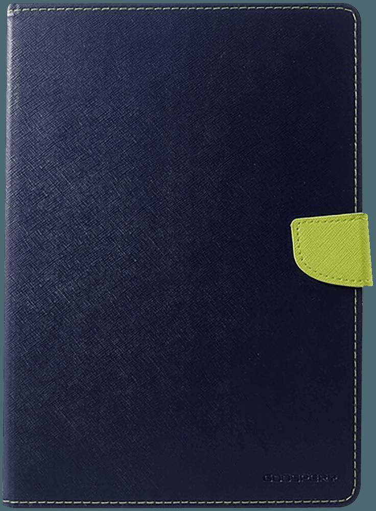 Apple iPad Pro 11 (2018) oldalra nyíló flipes bőrtok gyári MERCURYCASE textil mintás sötétkék