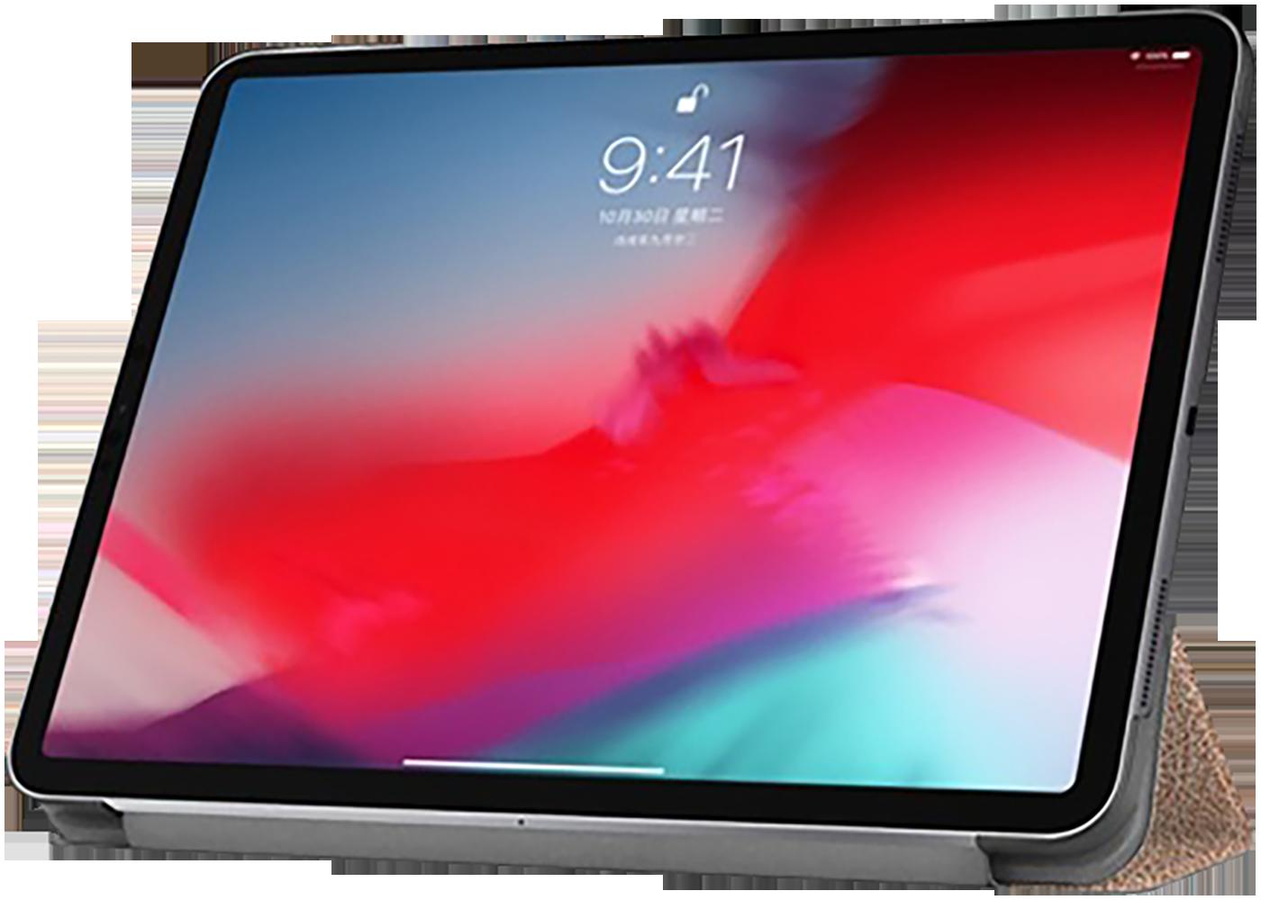 Apple iPad Pro 11 (2018) oldalra nyíló flipes bőrtok TRIFOLD asztali tartó funkció arany