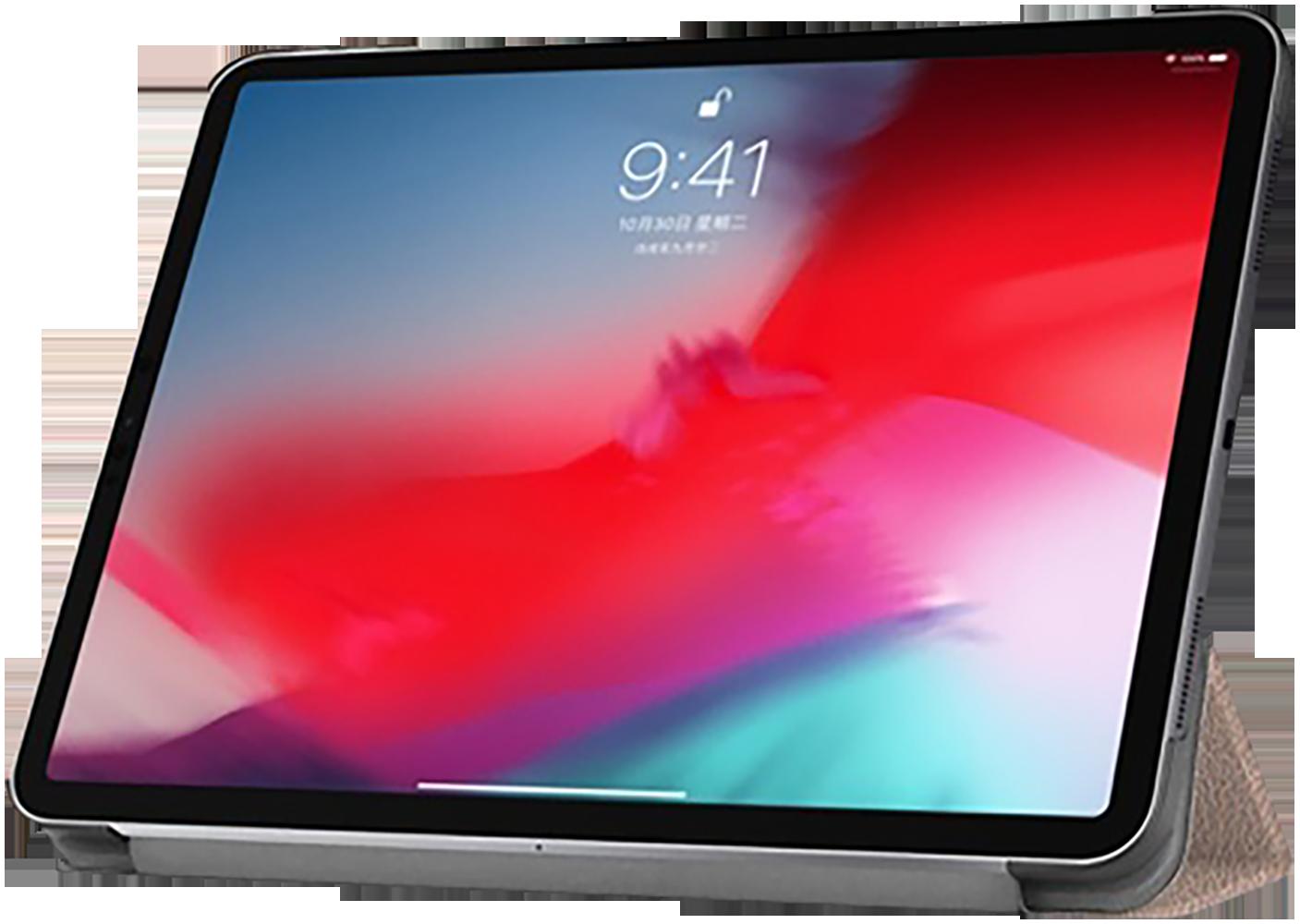 Apple iPad Pro 11 (2018) oldalra nyíló flipes bőrtok TRIFOLD asztali tartó funkció rozéarany