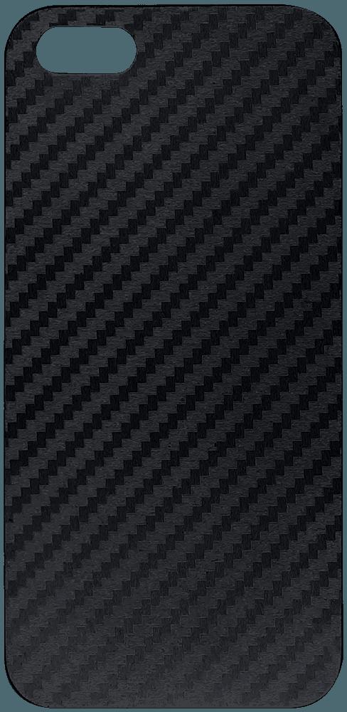 Apple iPhone 5S kemény hátlap karbon mintás fekete