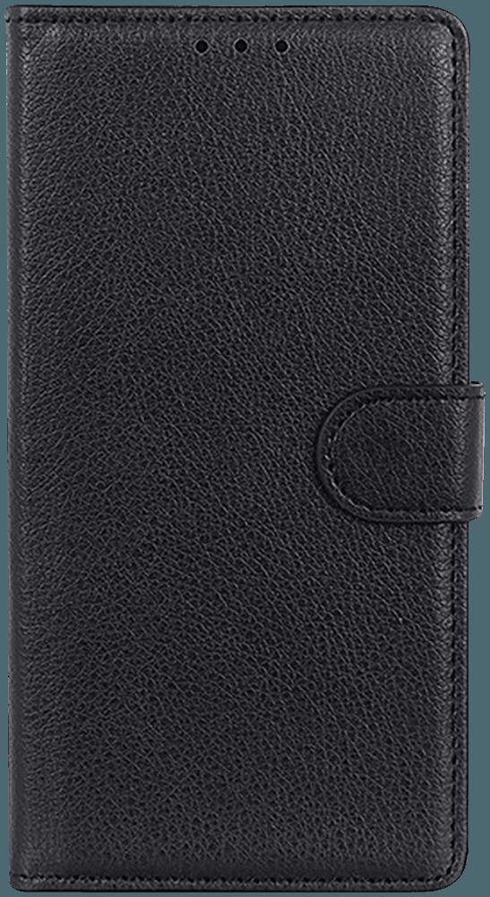 Huawei P40 oldalra nyíló flipes bőrtok asztali tartó funkciós fekete