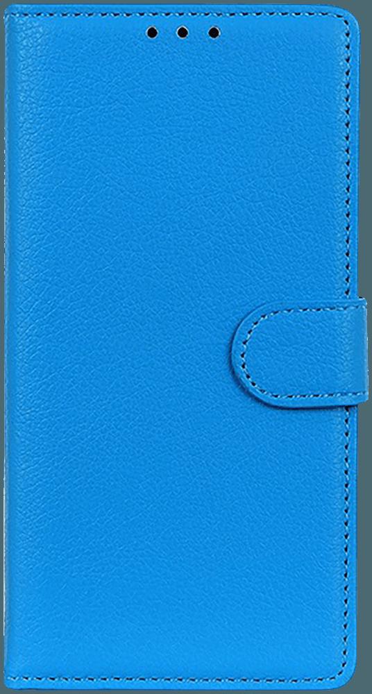 Huawei P40 oldalra nyíló flipes bőrtok asztali tartó funkciós világoskék