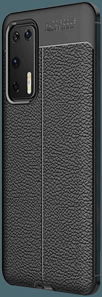 Huawei P40 szilikon tok varrás mintás fekete