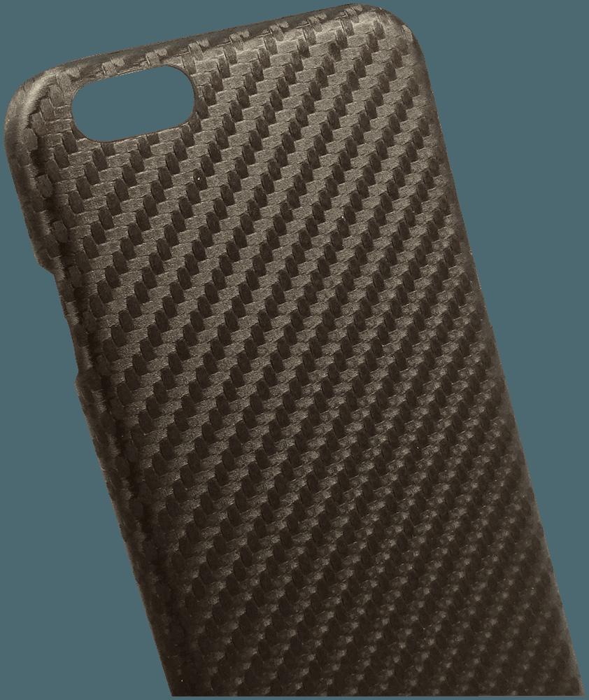 Apple iPhone 6 Plus kemény hátlap karbon mintás barna