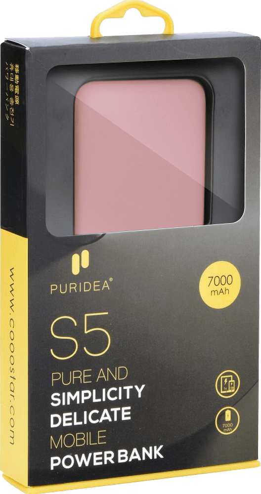 Apple iPhone X power bank - külső akkumulátor 7000 mAh rózsaszín