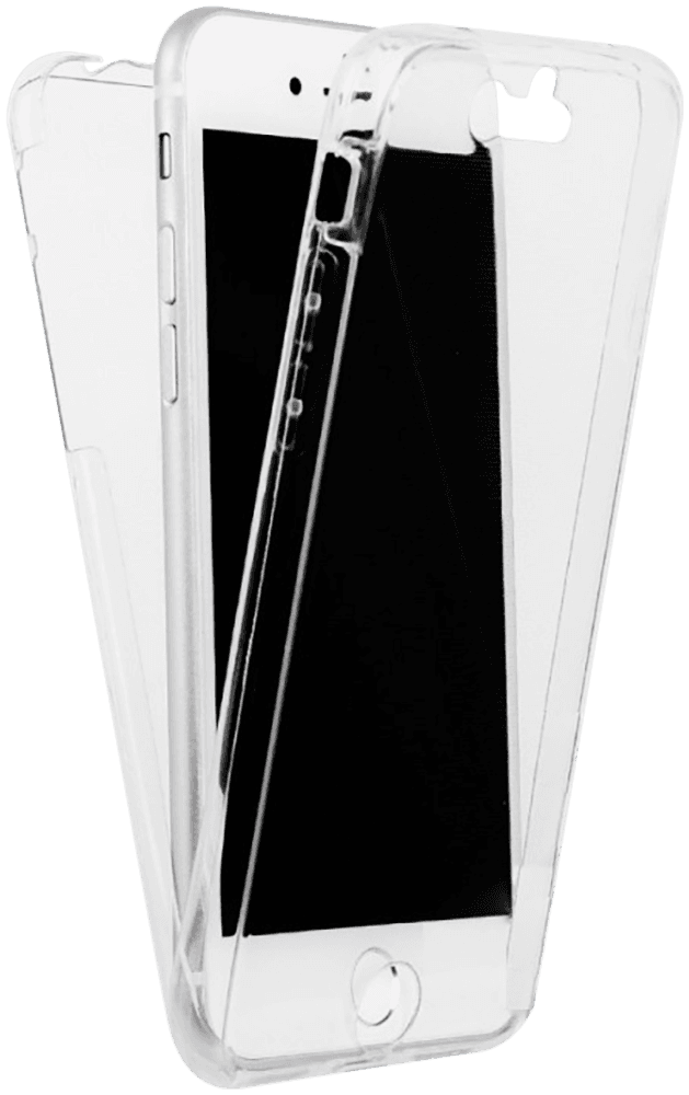 Apple iPhone 6S Plus kemény hátlap szilikon előlap 360° védelem átlátszó