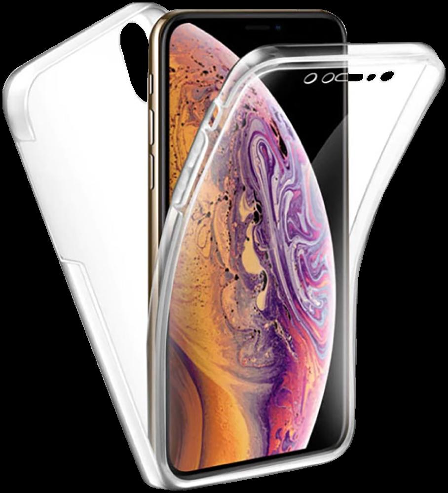Apple iPhone XR kemény hátlap szilikon előlap  360° védelem átlátszó