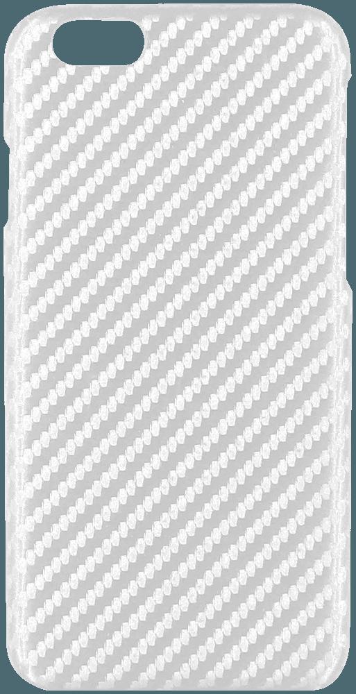 Apple iPhone 6S Plus kemény hátlap karbon mintás fehér
