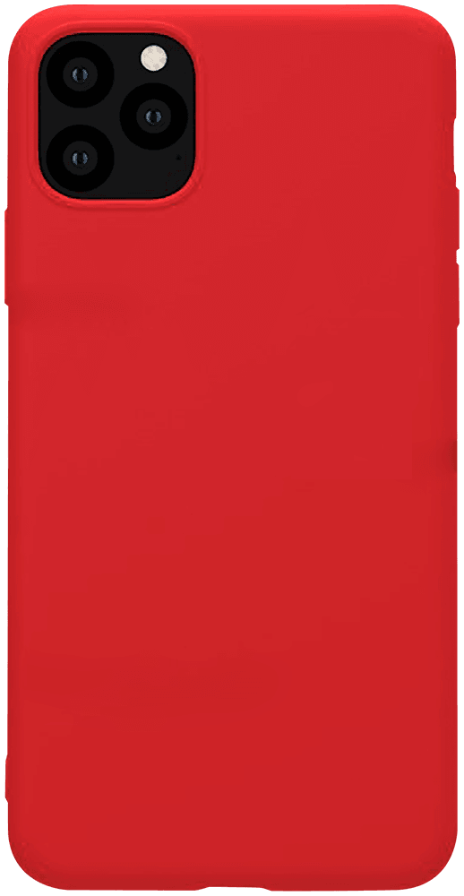 Apple iPhone 11 Pro Max szilikon tok matt piros