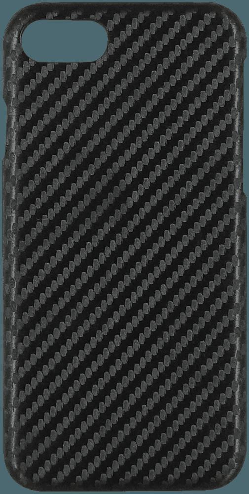 Apple iPhone SE (2020) szilikon tok karbon mintás fekete